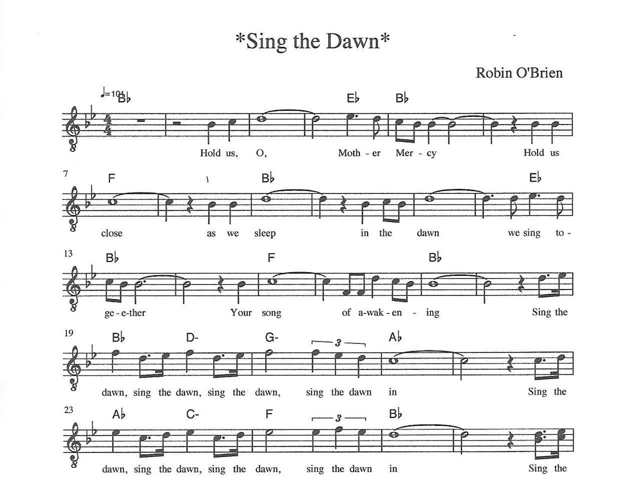 Our Sheet Music